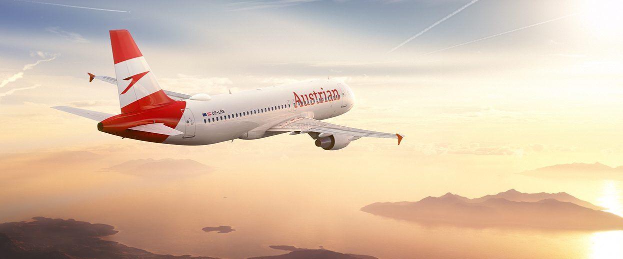 Der Flieger von Austrian Airlines