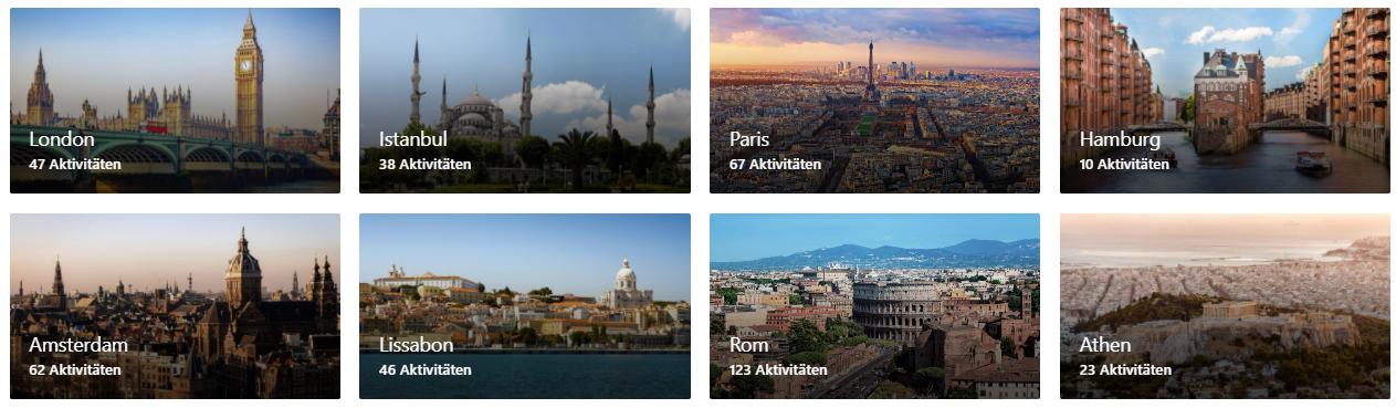 Die Top-Attraktionen von Booking.com