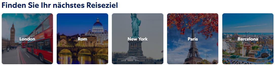Reiseziele bei Expedia.at