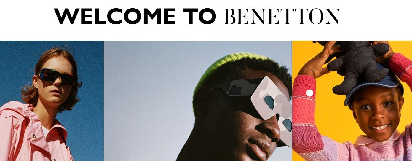 Die Startseite von Benetton!