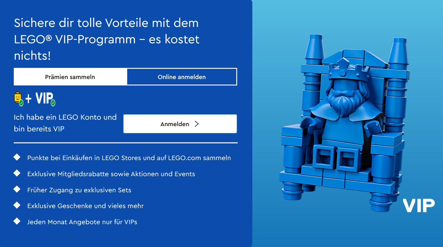 Das LEGO VIP Programm