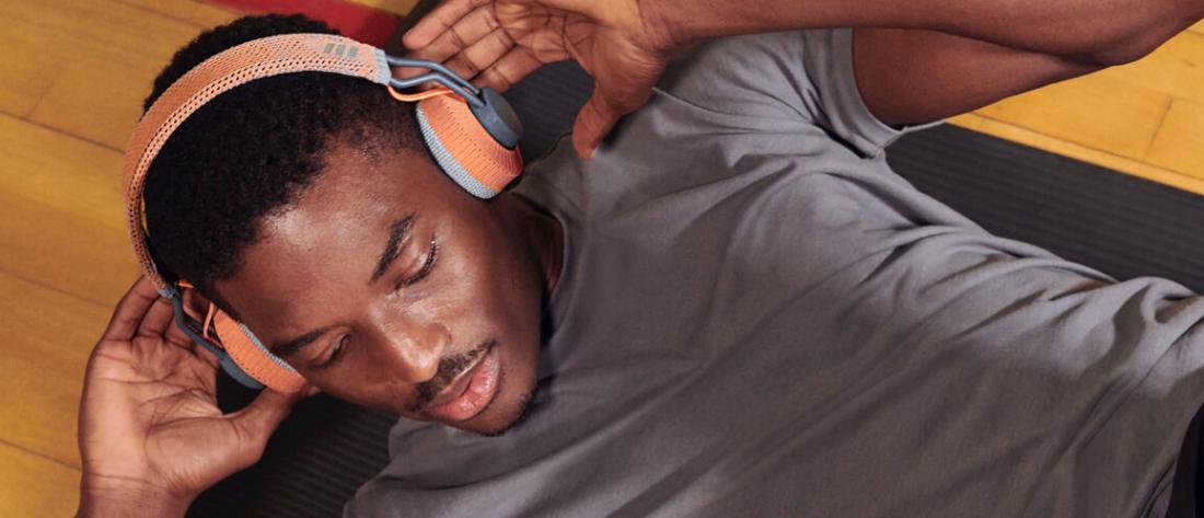 Die Startseite von adidas headphones